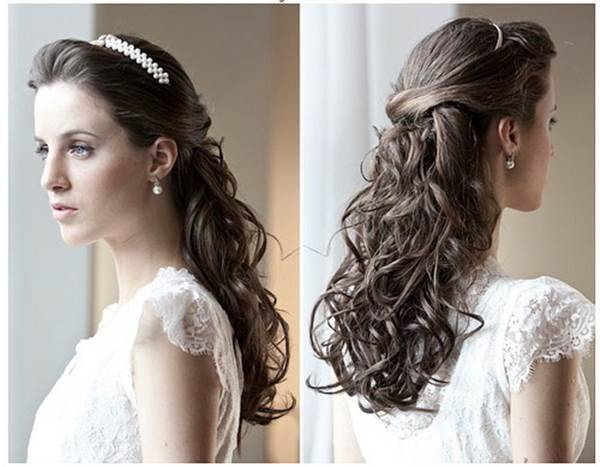 Penteados para Festa debutante com tiara