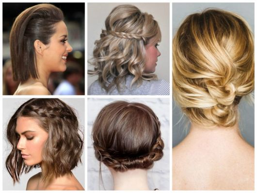 Penteados para Festa cabelo curto preso com trança