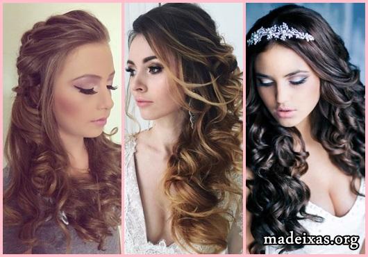 Penteados para Festa modelos cabelo cacheado