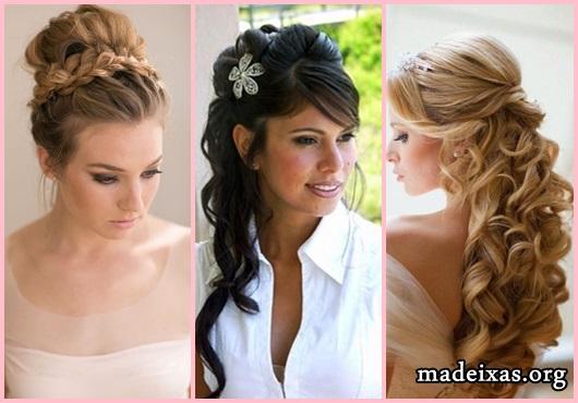 Penteados para Festa modelos cabelo cacheado com franja