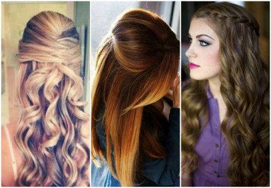 Penteados para Festa cabelo longo loiro solto com cachos