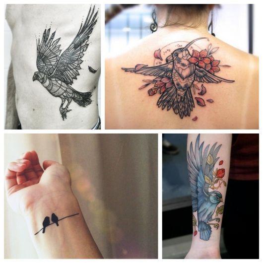Tatuagem de Pássaro: 75 ideias impecáveis e versáteis para todos os gostos!