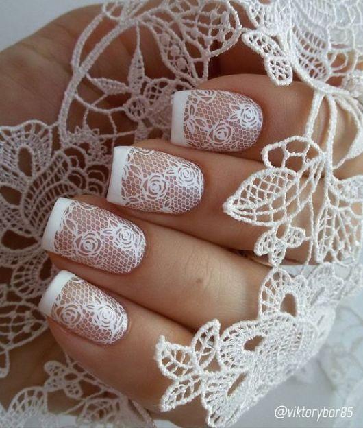 nail art com renda
