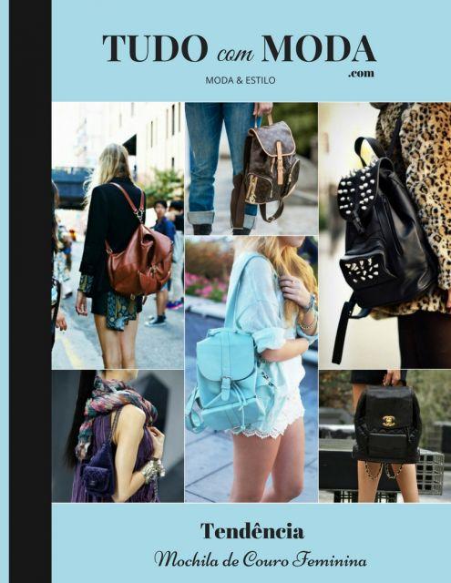 Modelos vestem looks casuais com mochilas de couro.
