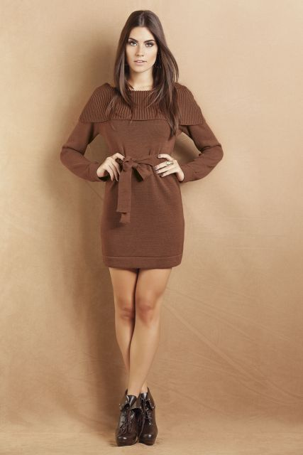 2a1415db3 Vestidos de Inverno – 70 Modelos Elegantíssimos para Vestir no Frio!