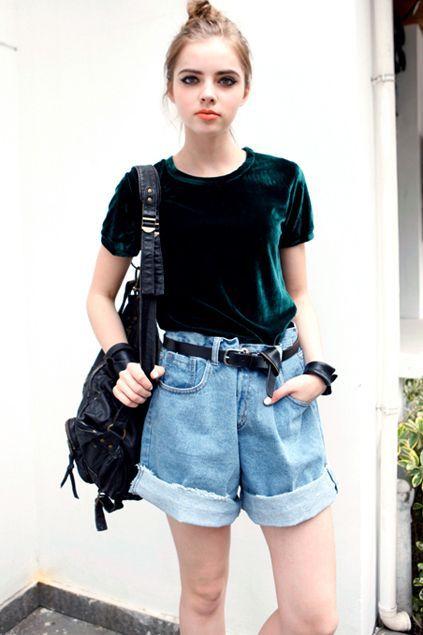 look com blusa verde