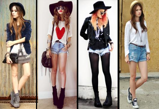 chapéu-coco com short jeans