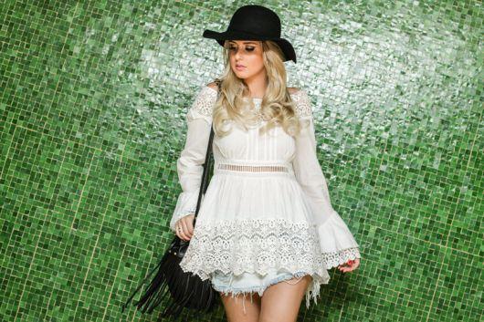 chapéu-coco com vestido branco retrô c3e7928f2b8