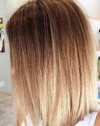 Long Bob com ombré hair em cabelo loiro