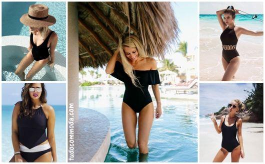 Maiô Preto – 67 Modelos Sensacionais & Dicas para Escolher o Seu!