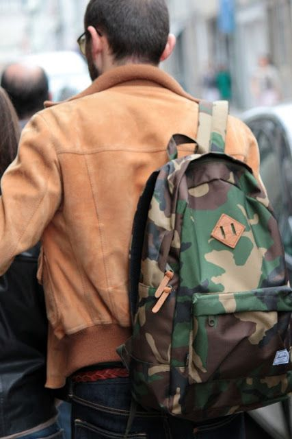 mochila estampada masculina
