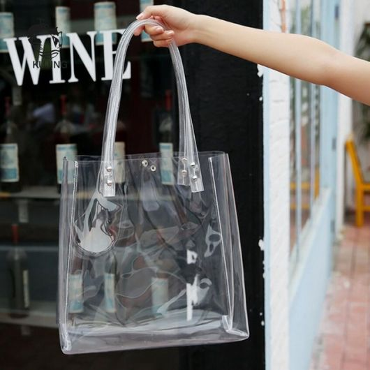 mochila transparente com alça