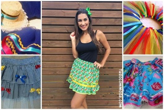 Saia de Festa Junina – 62 Modelos Apaixonantes & Passo a Passo DIY!
