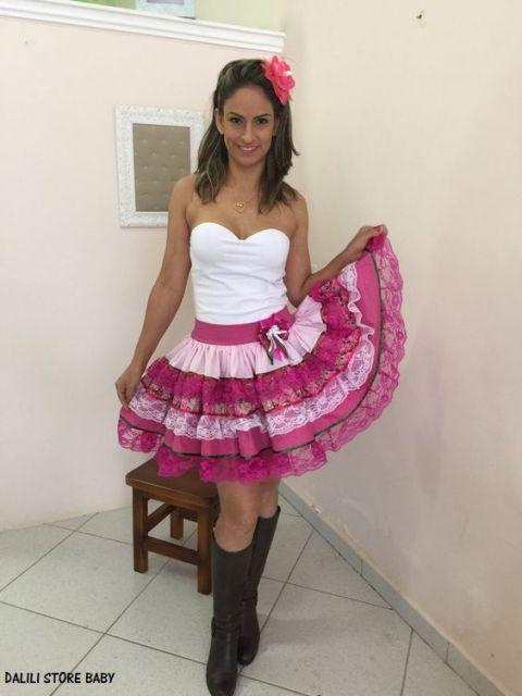 saia cor de rosa