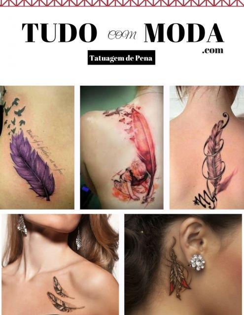 Tatuagem de Pena – Principais Significados & 50 Inspirações Incríveis!