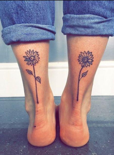 tatuagem girassol