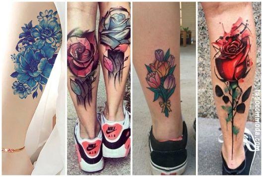ideias tatuagem de flores
