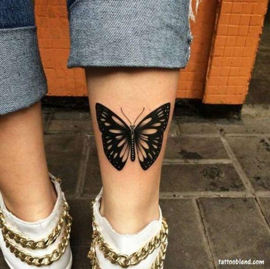 tatuagem moderna borboleta