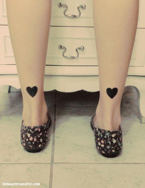 tatuagem simples coração