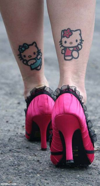 tatuagem Hello Kitty