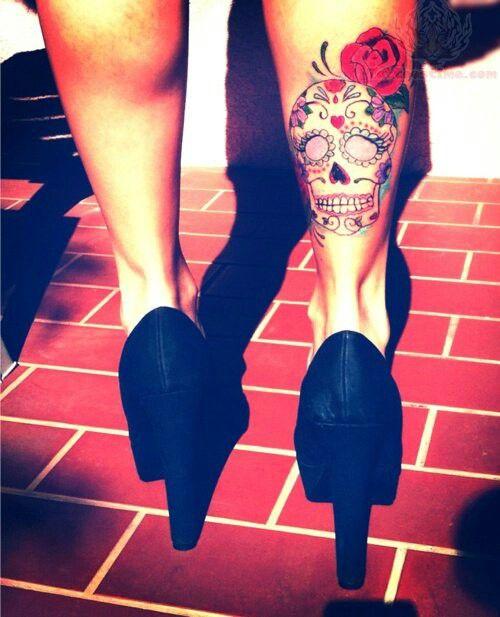 tatuagem caveira mexicana