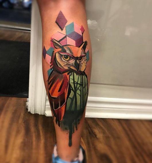 tatuagem coruja