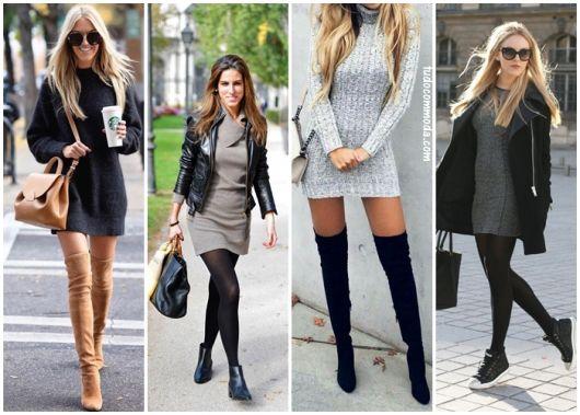 3b46d367a730 Vestido de Lã – Como Compor 71 Looks Chiquérrimos para o Inverno!