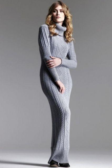 1f103694e0 Vestido de Lã – Como Compor 71 Looks Chiquérrimos para o Inverno!