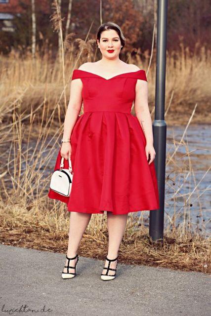 vestido com saia rodada