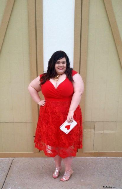 look com vestido vermelho