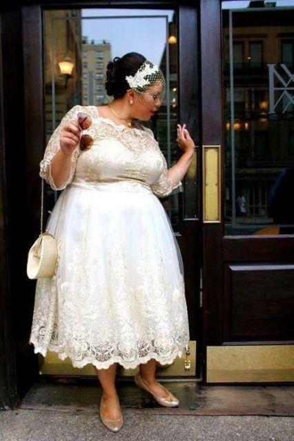 vestido de noiva midi