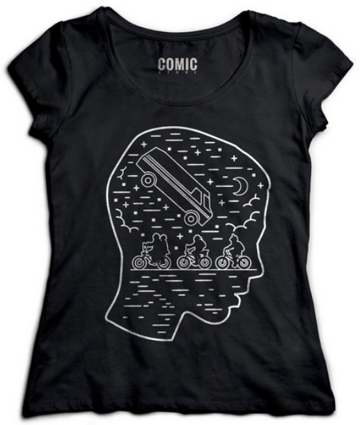 Camiseta com estampa da série Stranger Things.