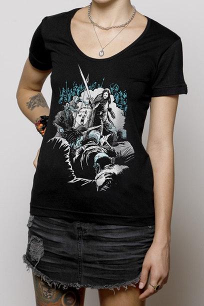 Camiseta com estampa do Jon Snow.