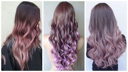 Montagem com três imagens de cabelos compridos.