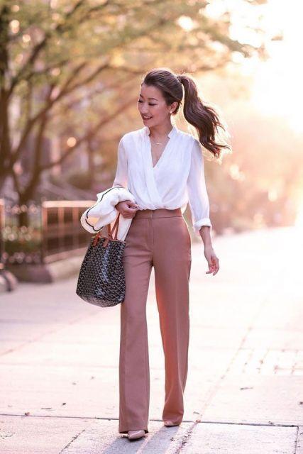 0f7d146ad0 Blusa Transpassada – 56 Modelos Elegantíssimos com Dicas de Looks!