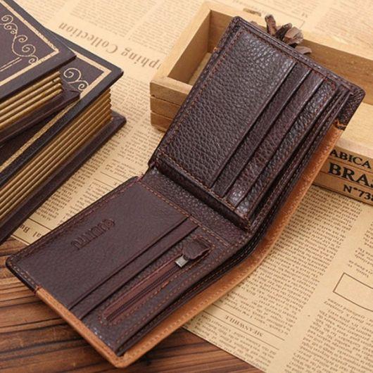 carteira masculina de couro