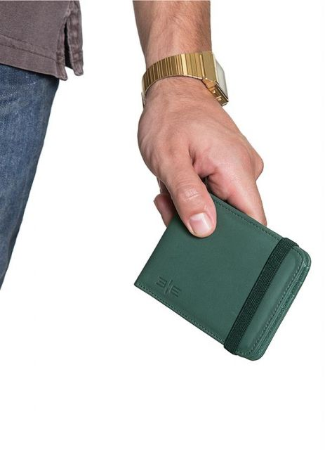 carteira masculina com elástico