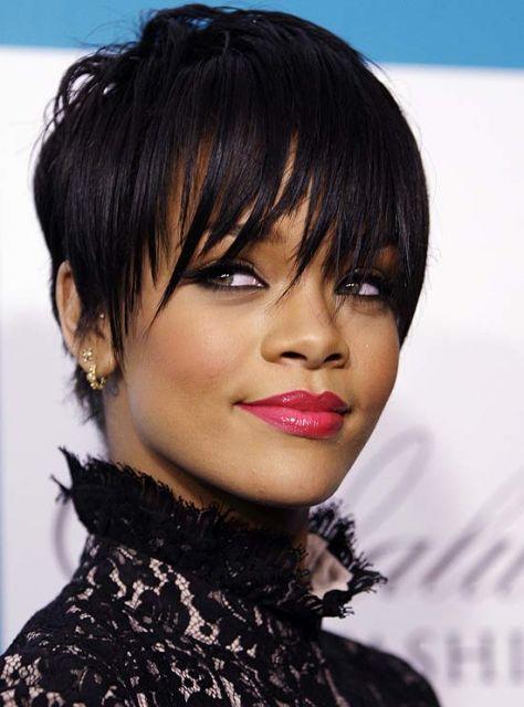 corte de cabelo Rihanna
