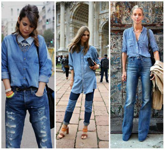 Vestido jeans para festa junina