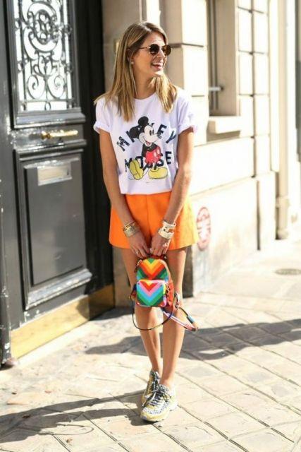 look com mochila colorida
