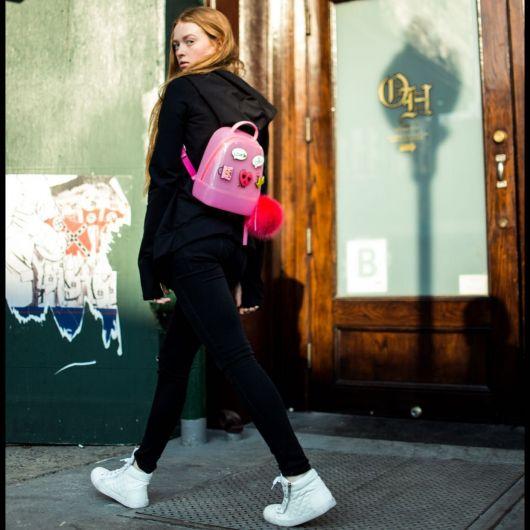 look com mochila rosa