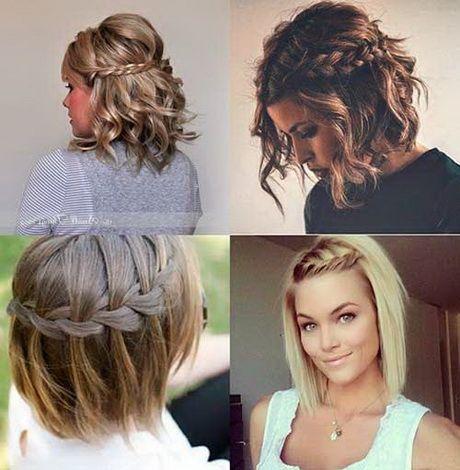 Penteados para Madrinhas em cabelo curto com trança