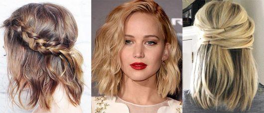 Penteados para Madrinhas em cabelo curto loiro
