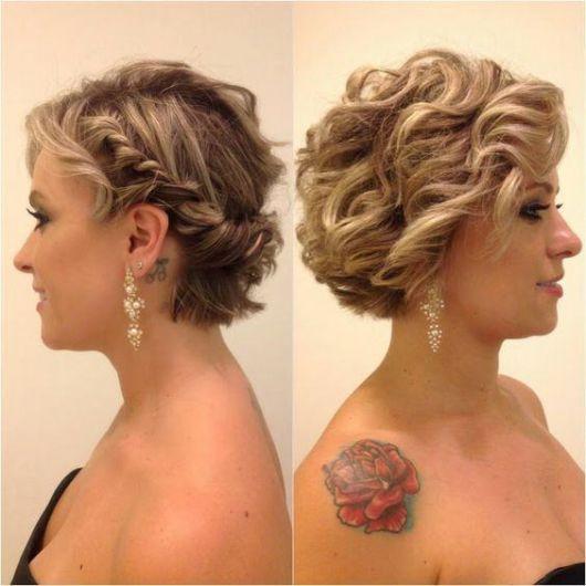 Penteados para Madrinhas em cabelo curto despojado