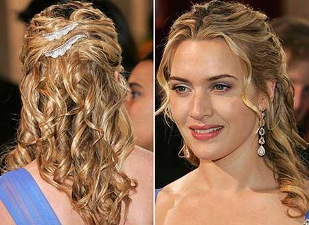 Penteados para madrinhas em cabelo médio com cachos
