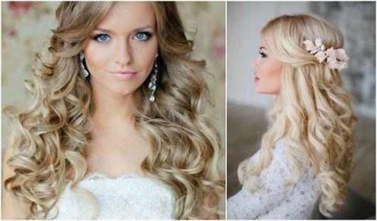 Penteados para madrinhas em cabelo médio loiro