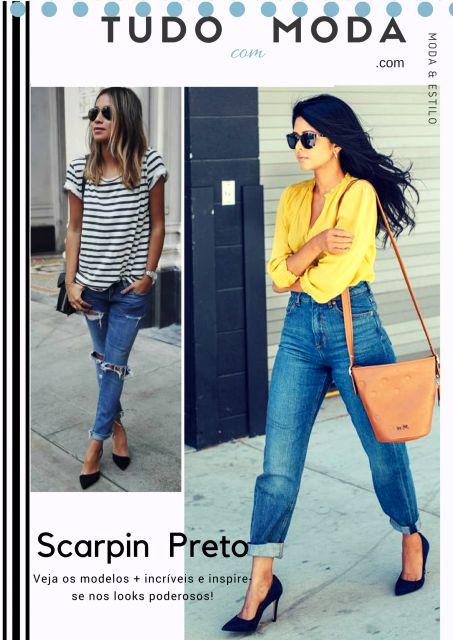 Como Usar Scarpin Preto – Dicas de Looks com 65 Modelos Magníficos!