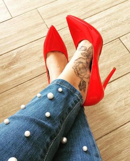 tatuagem sombreada pé