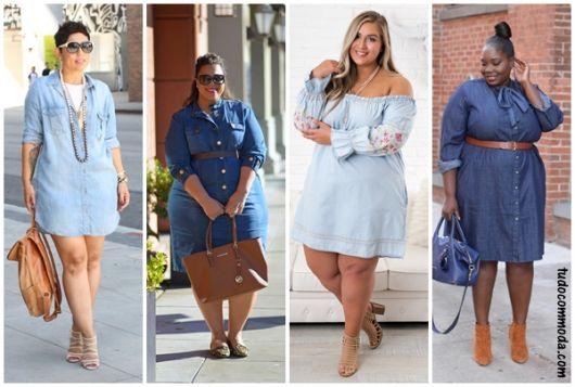Vestido Jeans Plus Size – Dicas Sobre a Tendência & 58 Modelos Lindos!