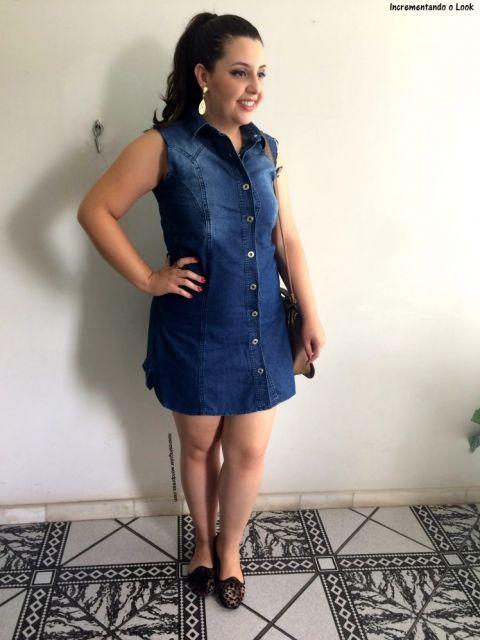 vestido jeans escuro